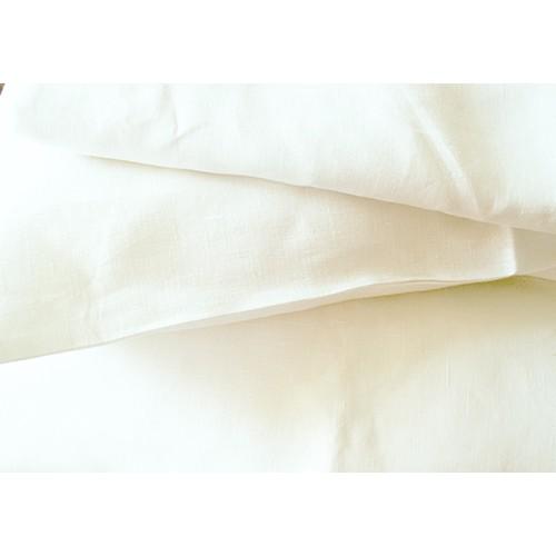 Ленен плик за завивка 100% естествен  омекотен лен - СНЕЖНОБЯЛ